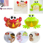 Automatic Bubble Maker Machine Big Crab&Frogs Bubble Maker Blower Music Bath Toy
