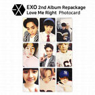 EXO 2nd Album Repackage Love Me Right Official Photocard Korean Version KPOP
