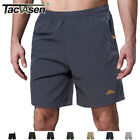 Mens Quick Dry Shorts Sports Jogger Shorts W/ 3 Zipper Pockets Beach Surf Shorts