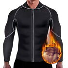 Mens Sweat Neoprene  Loss Sauna Suit Workout Shirt Body Shaper Fitness Gym