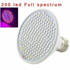 200 LED Plant Grow Light Blub Full Spectrum E27 Hydroponic Garden  Flexible Clip