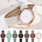 Fashion Women Casual Leather Band Crystal Watch Quartz Analog Ladies Wrist Watch