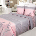 Set of 2 Shams 100% Cotton Pink / Gray Pillowcases  image