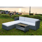 Rattan Outdoor Garden Patio Furniture Set Wicker Corner Coffee Table Sofa Couch