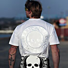 ByTheR Skull Logo Embroidered Patch White T-shirt Gothic Darkwear Basic Top