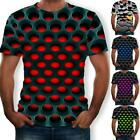 Funny Hypnosis 3D T-Shirt Men Women Colorful Print Casual Short Sleeve Top Super