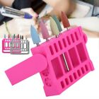 16Holes Manicure Nail Drill Bits Stand Holder Storage Box Display Container Tool