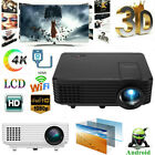 Multimedia 4K 1080P HD LED LCD Projector WiFi Android Bluetooth 3D Home Cinema