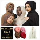 Kyпить 28 colors Cotton Blend Viscose Maxi Crinkle Hijab Scarf Soft Muslim 70x40 inch на еВаy.соm