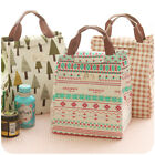 Fabric Reinforced Insulated Lunch Bag Portable Food Storage Bags Bento Bag GIFT