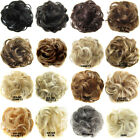 Real 100% Human Hair Extension Wrap Messy Hair Bun Curly Heat Ponytail Hairpiece for sale  Shipping to Canada