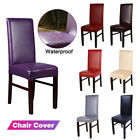 Dining Chair Covers PU Leather Slip Covers Wedding Banquet Decor Waterproof GIFT