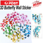 12pcs 3d Butterfly Wall Removable Sticker Magnets Decals Kids Art Nursery Decor