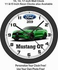 2019 FORD MUSTANG GT 5.0 NEED FOR GREEN WALL CLOCK-CAMARO, CHALLENGER, CORVETTE