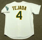 MIGUEL TEJADA Oakland Athletics 2002 Majestic Throwback Home Baseball Jersey on Ebay