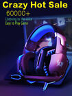 3.5mm Gaming Headset LED Headphones Stereo Surround for PS4 Xbox one X 360E PC E