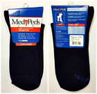MediPeds Diabetic Crew Sock w/ Coolmax Navy 9-11 6 pairs $9.99 USD on eBay