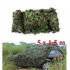5M x 1.5M Outdoor Sun Shelter CAMOUFLAGE Car Cover Netting Hunting Woodland;
