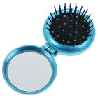 Folding massage comb hair brush with mirror compact travel pocket comb  neRS