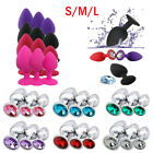 Kyпить New 3 Size Lot Stainless Steel Plug Anal Diamond shape Jeweled Butt Suction Cup на еВаy.соm