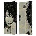 LOUIJOVERART LADY PORTRAITS LEATHER BOOK WALLET CASE COVER FOR MOTOROLA PHONES