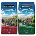 Arkwrights Complete Dog Food Beef or Chicken Dry Dog Food 15 kg 0r 30kg 2 x15kg