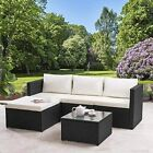 MODERN RATTAN GARDEN FURNITURE SOFA SET LOUNGER 8 SEATER OUTDOOR PATIO FURNITURE