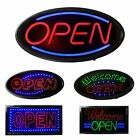 Animated Motion Bright OPEN Sign LED Neon Light Restaurant Store w/On Off Switch