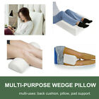 Relax Soft Cool Gel Foam Bed Wedge Leg Back Pillow Cushion Neck Support W/ Cover
