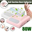 80W Nail Art Pull Filter Salon Dust Collector Suction Cleaner Manicure Machine