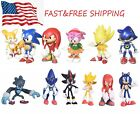 Kyпить 6 Pcs Sonic the Hedgehog Action Figures Cake Toppers Toys USA SELLER на еВаy.соm