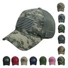 US FLAG Baseball Cap Military Army Camo Hiking USA America Golf Mesh Trucker Hat