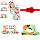 3Types Flower Pattern Baby Infant Kids Headband Hair Wrap Photography Prop