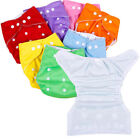 Kyпить 5 Diapers+ 5 INSERTS Adjustable Reusable Lot Baby Washable Cloth Diaper Nappies  на еВаy.соm