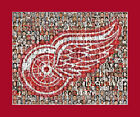 Detroit Red Wings Mosaic Print Art Designed Using Over 75 Past and Present Redwi $30.0 USD on eBay