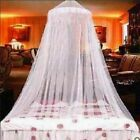 Lace Mosquito Netting Princess Round Bed Mesh Elegant Canopy Bedding Dome Net US image