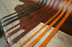 Black Brown vegetable tanned leather strap , full grain leather strips