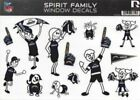 San Diego Chargers Family Spirit Decal Set $6.99 USD on eBay
