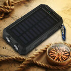 Waterproof 50000mAh Solar Power Bank 2USB 2LED Battery Charger For Cell Phone US