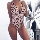Women Tummy Control Bodysuit Swimwear Costume Ladies One Piece Monokini Swimsuit