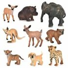 1 Pc Zoo Simulation Tiger Elephant Deer Leopard Plastic Forest Wild Animals Mode