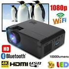 3D LED Projector 10000 Lumens 4K HD Home Cinema Theater PC & Laptop AV/USB/HDMI