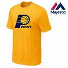 New Majestic, Big & Tall NBA Indiana Pacers T-Shirt In Gold With Chest Logo on eBay