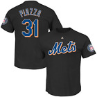 Mike Piazza New York Mets T-Shirt #31 Hall of Fame Mens Black Cotton on Ebay