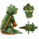 Crocodile Costume for Dogs Halloween Velvet Dog Costumes Pet NEW Size S M L XL