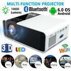 1080P HD LED Projector BT 10000 Lumens Home Theater HDMI USB VGA for Android