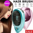Portable Electric Ionic Hairbrush Mini Ion Anti-Static Hair Brush Comb Massage
