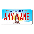 Personalized Alaska License Plate for Bicycles, Kid's Bikes, Atv's & cars Ver 3
