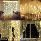 300 LED Outdoor String Light for Christmas Wedding Decoration Curtain Light 3x3M