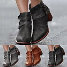 Womens Buckle Ankle Boots Brand Low Heel Shoes Motorcycle Spring Autumn Boots